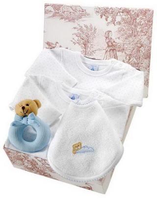 Canastilla de bebé en color azul modelo Suave