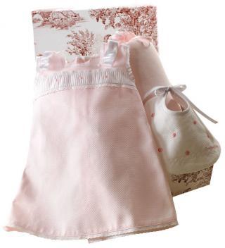 Canastilla de bebé en color rosa modelo Capricho