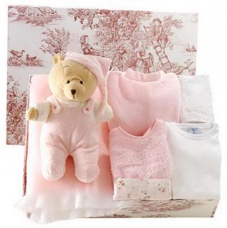 Canastilla de bebé en color rosa modelo Deliciosa
