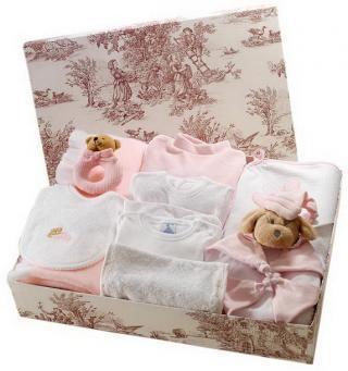 Canastilla de bebé rosa modelo Melosa