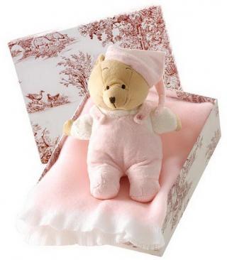 Canastilla de bebé en color rosa modelo Acurrucadito