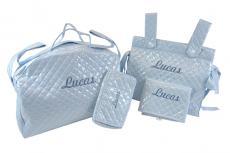 Bolsa de maternidad, bolsa panadera, cambiador y portatoallitas