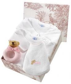 Canastilla de bebé en color rosa modelo Suave