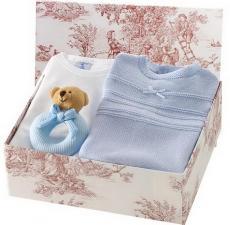 Canastilla de bebé en color azul modelo Gustosa