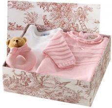 Canastilla de bebé rosa modelo Gustosa