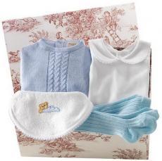Canastilla de bebé en color azul modelo Tierna