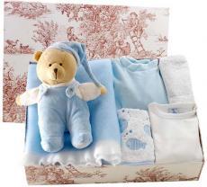 Canastilla de bebé en color azul modelo Deliciosa