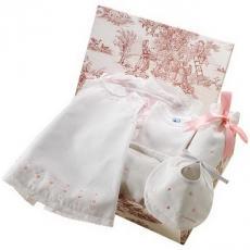 Canastilla de bebé rosa modelo Elegante